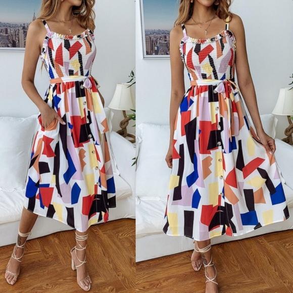 Bellanblue Dresses & Skirts - LUCILLE Pop of Color dress